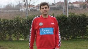 Florin Stângă, înaintea primului antrenament cu Skoda Xanthi / FOTO: www.skodaxanthifc.gr