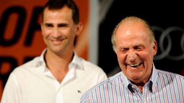 Regele Juan Carlos şi printul Felipe al Spaniei