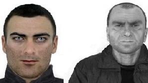Portretele-robot ale suspecţilor în cazul dublului asasinat de la Siret au fost date publicităţii/ FOTO: IGPR