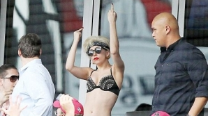 Lady Gaga, în lenjerie intimă la baseball / FOTO: XPOSUREPHOTOS