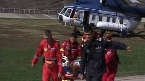 O victimă a a ccidentului de la Tulcea a fost adusă la Bucureşti în comă