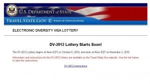 schimbări majore pentru programul Loteria vizelor 2012: Aplicarea se face exclusiv online