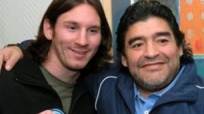Messi şi Maradona, amici până ajungem la topuri