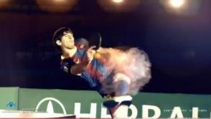 Messi a dat lovitura de graţie din vole