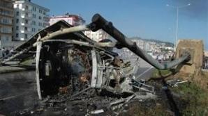 Un autocar a luat foc în Turcia