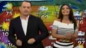 Tom Hanks prezintă vremea la o televiziune spaniolă / foto: huffingtonpost.com