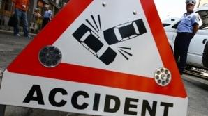 Accident rutier pe DN 7