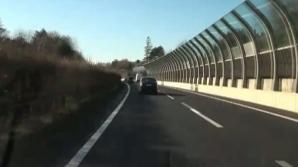 Vitezoman pe o autostradă din Elveţia
