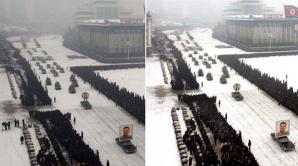 Înmormântarea lui Kim Jong-il, înfrumuseţată cu ajutorul Photoshop-ului