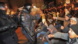 Protestatar înarmat, reţinut în PIAŢA UNIVERSITĂŢII