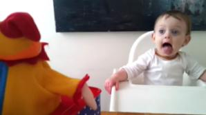 Reacţia fetiţei e adorabilă