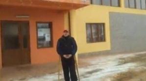 Protestatarul singuratic din Chiuieşti, judeţul Cluj