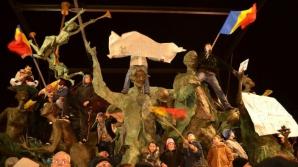 STATUILE UMANE: Imagini aproape ireale din timpul protestelor de la Bucureşti
