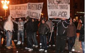 Fanii lui Poli Timişoara au ieşit în stradă