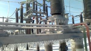 Reţea electrică distrusă în Buzău
