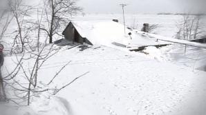Prăpăd în Buzău: sate îngropate sub nămeţi de peste patru metri!