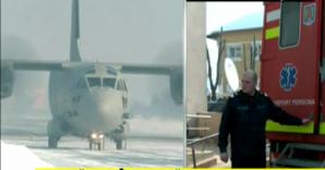 O parte a victimelor au fost aduse la Bucureşti cu un avion militar