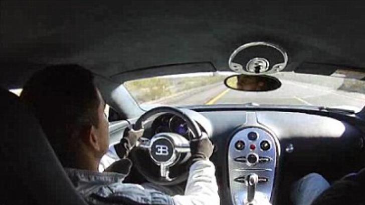 Şoferul unui Bugatti Veyron se laudă ca a atins viteza record