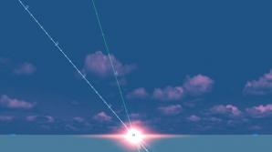 Echinocţiul de primăvară - momentul Apusului. Chiar şi după ce Soarele coboară sub linia orizontului, razele sale ajuns inca pe Pamant, fiind reflectate de atmosfera. Fenomenul face ca ziua să fie cu câteva minute mai lungă decat noaptea, chiar si de echi