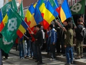 Noua Dreaptă a mărşăluit la Cluj (Fotografie de arhivă)