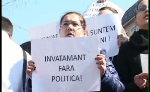 500 de oameni au protestat la Târgu Mureş faţă de separarea etnică a UMF