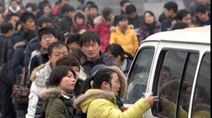 Târg pentru studenţi din toamna lui 2011, în Jinan, provincia Shandong