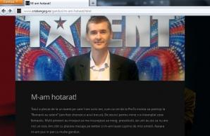 """Postarea în care Cristian Gog vorbeşte despre insistenţele ProTV, televiziunea dorindu-l si in primul sezon """"Romanii au talent"""""""