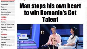 ROMÂNII AU TALENT: Cristian Gog a apărut în The Sun
