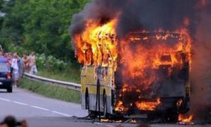 Un autobuz cu 50 de turişti din România la bord A LUAT FOC în Bulgaria