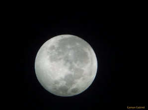 Superluna 2012 prin telescop
