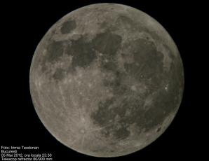 Superluna fotografiată cu ajutorul telescopului de Teodorian Irimia