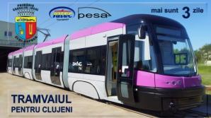 Tramvaiul ultramodern, de fabricaţie poloneză, care va circula pe noile şine din Cluj Napoca