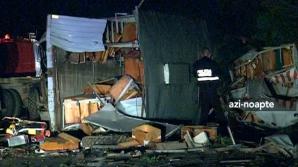 ACCIDENT GRAV pe Autostrada 1: Doi morţi, după ce un camion s-a ciocnit cu o cisternă
