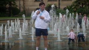 Alexandru Dan Dumitru, purtător al flăcării olimpice prin Leeds