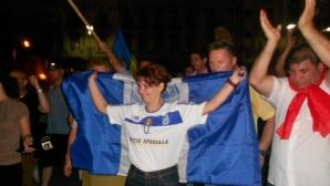 Lia Olguţa Vasilescu a sărbătorit câştigarea alegerilor în tricoul Universităţii Craiova