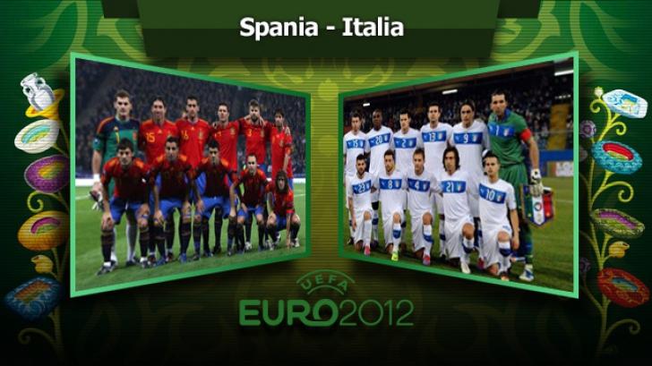 SPANIA-ITALIA este FINALA EURO 2012