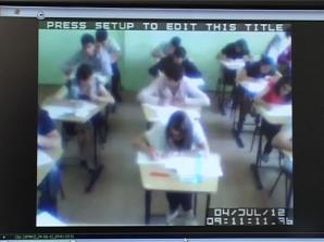 14 elevi au fost eliminaţi din examen după ce au fost prinşi cu fiţuici