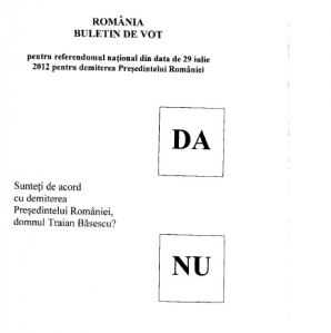 REFERENDUM 2012: Buletinul de vot