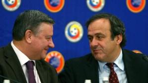 Mircea Sandu şi Michel Platini