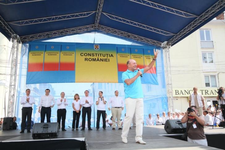 Miting la Cluj-Napoca de susţinere a lui Traian Băsescu