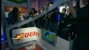 Handbaliştii francezi au distrus un studio TV