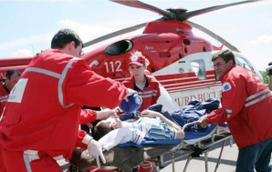 Elicopter SMURD la intervenţie