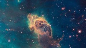 O coloană de gaz în Nebuloasa Carina