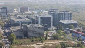Clădiri de birouri din Pipera, văzute de pe SkyTower