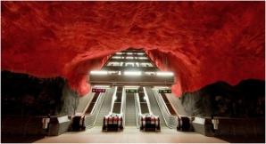 Staţie de metrou din Stockholm, Suedia
