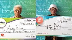 Lena Eaton - cea mai norocoasă bunică din lume. A câştigat la loto de 2 ori în două luni