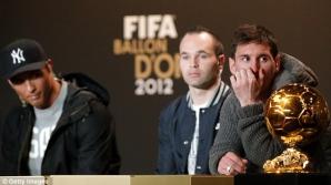 Messi a câştigat balonul de Aur 2012