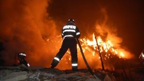 Incendiu la Oneşti