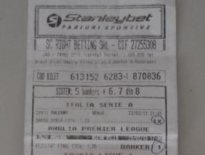 Bilet castigator la Stanleybet