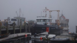 Portul Midia a fost închis din cauza ceţii dense